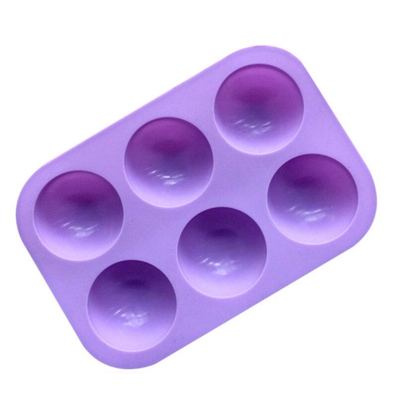 6 loch Halb Ball Form Handgemachte Seife Form Silikon Kuchen Form Silikon Formen Für Schokolade Küche Gargets Passen