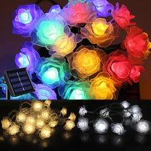 8 Functions 4.8 m 20 LEDs Rose Flower Solar String Lights Birthday Party Wedding Love Decoration Festival Garland String Lights