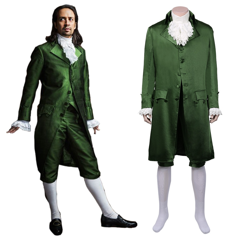 زي تنكري أخضر من هاميلتون الموسيقية ، نسخة طبق الأصل من الطراز الفيكتوري Edwardian Outffit