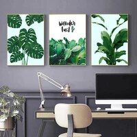 oil painting green plants fashion poster wall art prints wall painting living room decoration home decoration painting