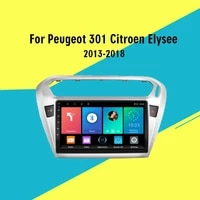 for peugeot 301 citroen elysee 2013 2018 2 din 9 car multimedia player auto stereo radio gps navigation wifi bt
