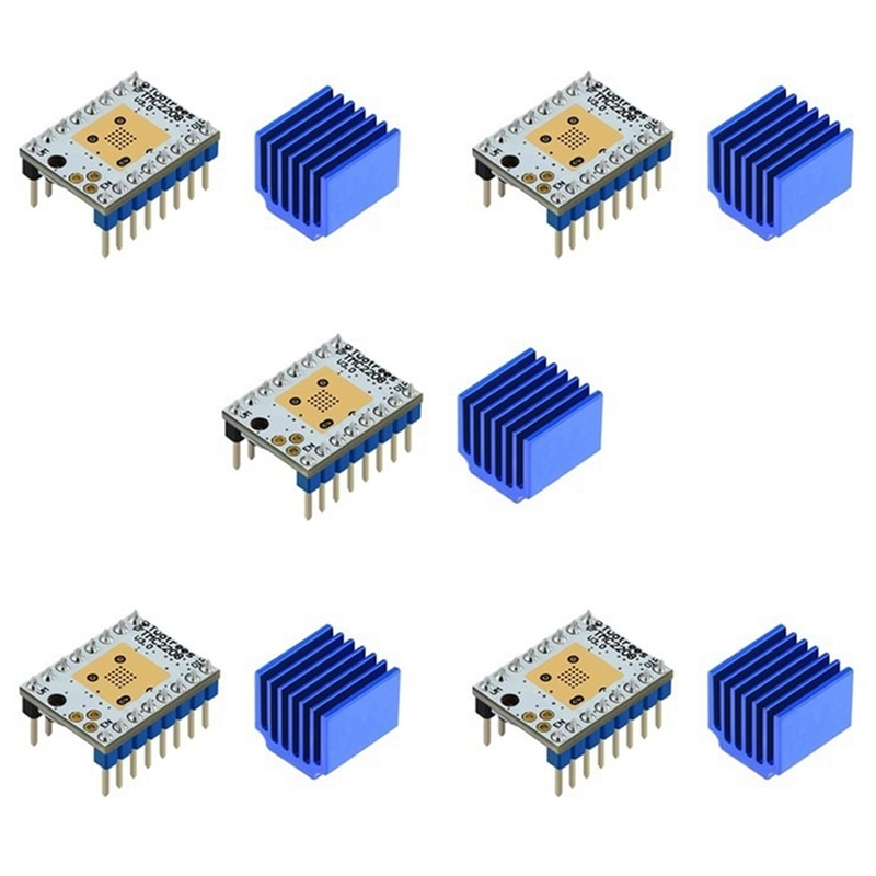 5 قطعة 3D طابعة أجزاء TMC2208 V3.0 42 محرك متدرج سائق محرك الصامتة المبرد ل SKR V1.3 V1.4