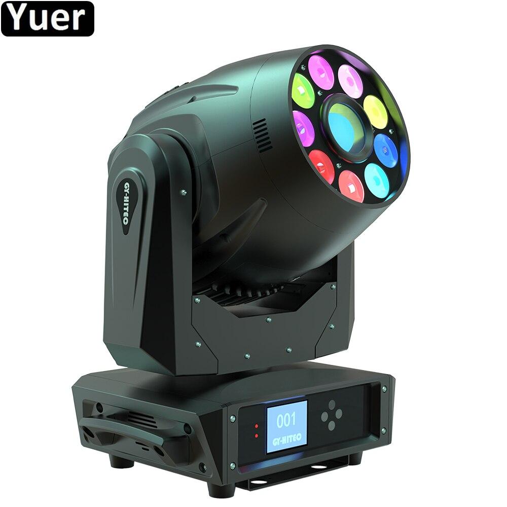 3 في 1 رأس متحرك RGBWA UV 6 في 1 معدات DJ ، شعاع غسيل LED 245 واط ، مصباح مسرح لعيد الميلاد