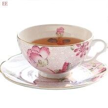 Rose Vintage tasse à café Dessert conteneurs en céramique à la main tasse à thé poterie nordique os chine tasse Kubki accessoires de cuisine E5