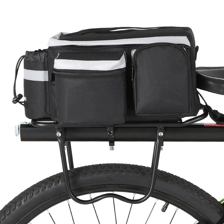 Multi Water-resistant Bicycle Rear Seat Bag Cycling Bike Rear Rack Trunk Pannier Luggage Carrier Bag Handbag Shoulder Bag