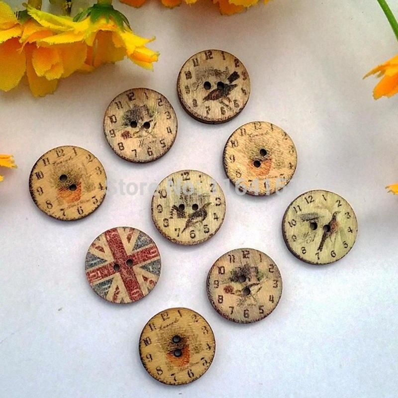 50 piezas 20mm botones de madera sueltos redondo costura decoración botón para artesanía scrapbooking accesorios de costura botao para artesanato