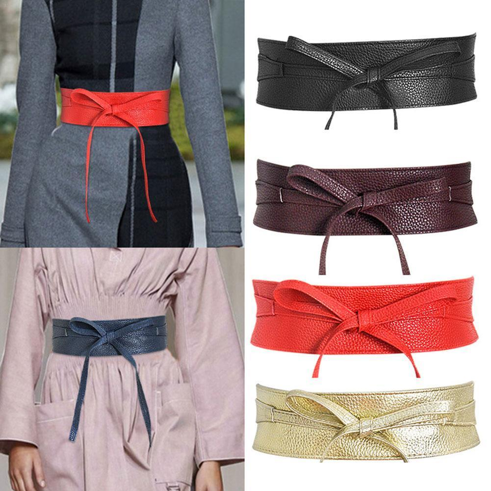 Галстук-бабочка аксессуары для одежды Пояс универсальный широкий пояс черный женский однотонный пояс для женской модной одежды