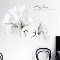 large white flowers wall stickers sofa background stickers room decals decorative waterproof posters self adhesive wallpaper art