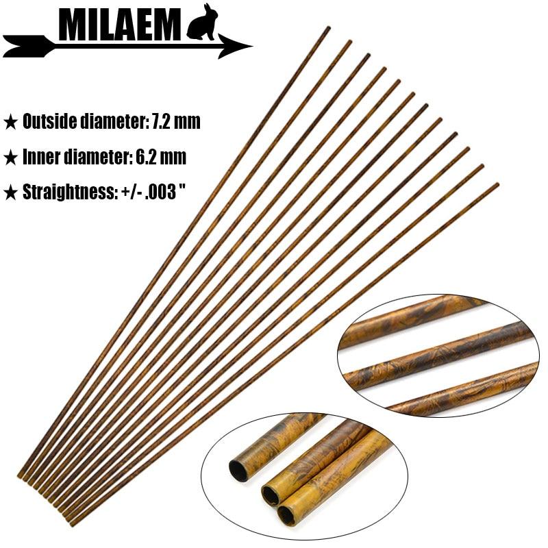 Archery Carbon Arrows Shaft Pure Carbon Arrow Shaft 30inch Spine 250-600 Carbon Shaft ID 6.2mm DIY Arrows Shooting Accessories
