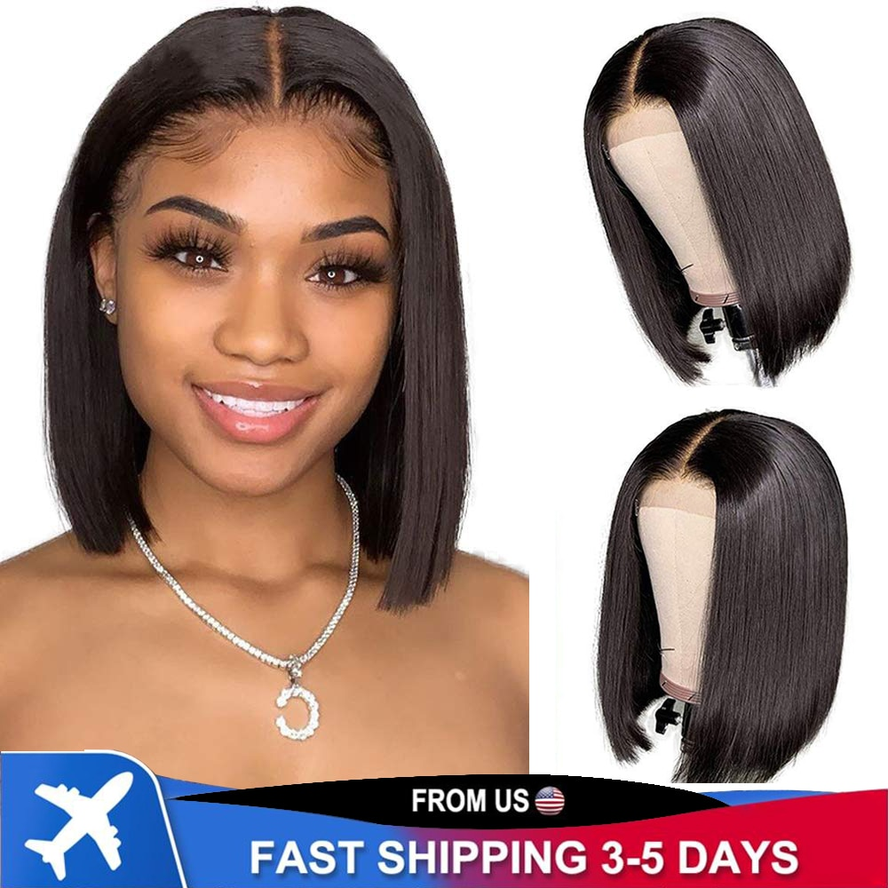13x4 Lace Front Wig 150% Brazilian Straight Hair With Baby Women Transparent Closure Human