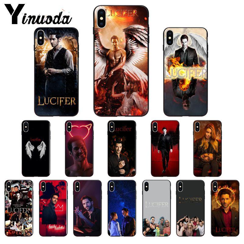 Funda Yinuoda de TPU suave de la serie de televisión Americana Lucifer para Apple iPhone 8 7 6 6S Plus X XS MAX 5 5S SE XR 11 11pro max
