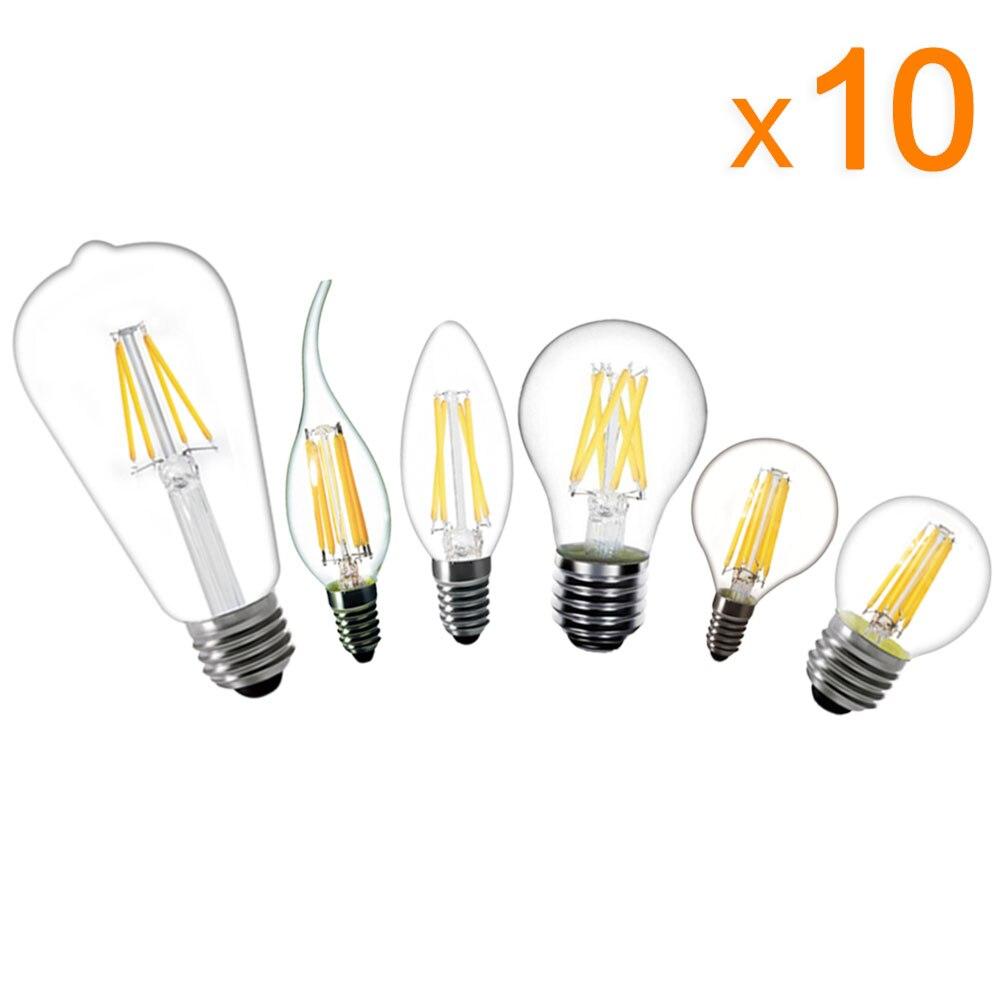 Bombillas LED para el hogar, lámpara Retro de 220V, E14, E27, Edison,...