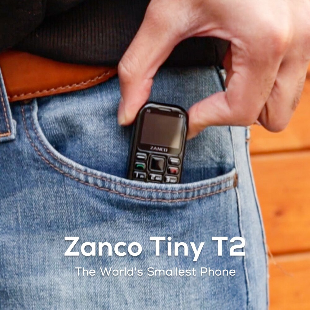New arrvial ZANCO tiny t2 World Smallest Phone 3G WCDMA mini cellular phone mini phone smallest phone (Buy with Free of gift )