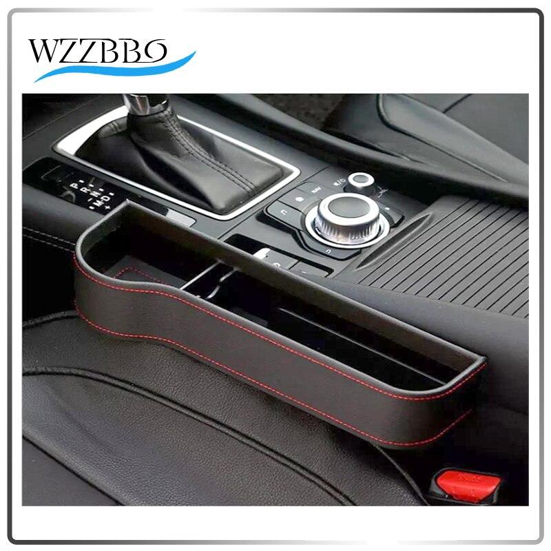 Organizador de bolsillo para asiento de coche, caja de almacenamiento de cuero PU, soporte para botellas de teléfono, accesorios para coche, interior # CSA36