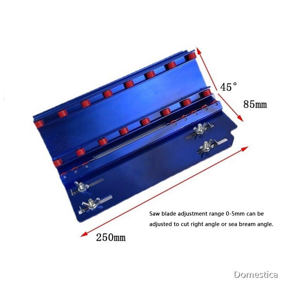 Tiling-herramienta de corte angular de 45 grados, azulejos de esquina exterior, herramientas de construcción para máquina de corte de piedra, azul y plateado