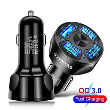 Charger in Car For iPhone 12 Quick Charge 3.0 4.0 Fast Charging For Xiaomi mi Huawei Car-Charger 4 P