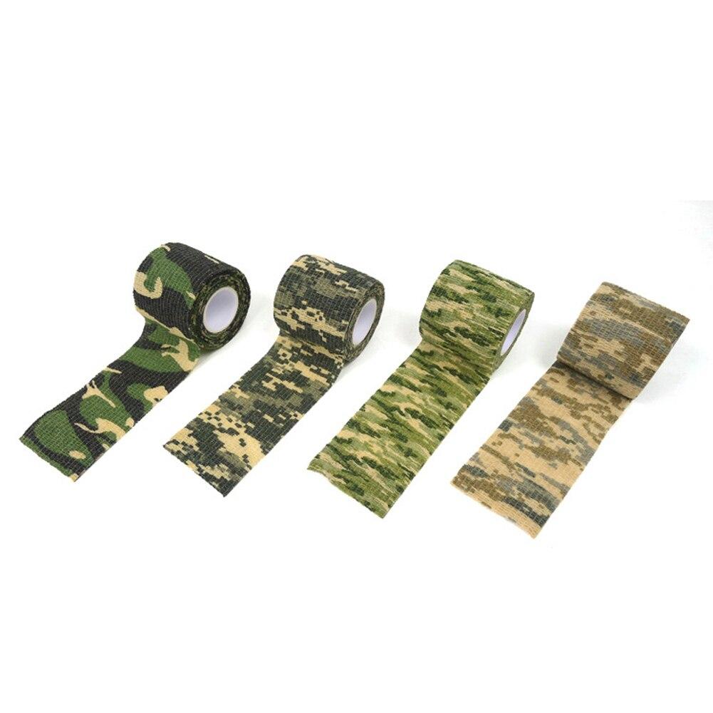 Cinta sigilosa de camuflaje para exteriores, herramienta de caza impermeable, cinta sigilosa para disparar, cinta de ciclismo duradera, accesorios duraderos