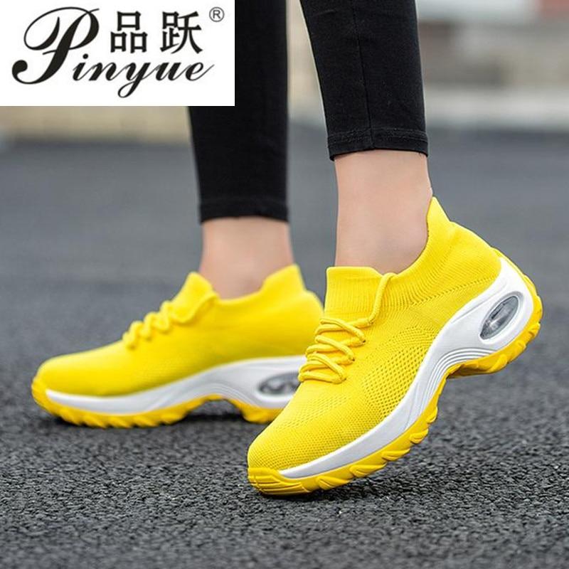 Sola macia respiração sapatos de dança feminino característica esportiva tênis de dança moda jazz hip hop sapatos mulher dança