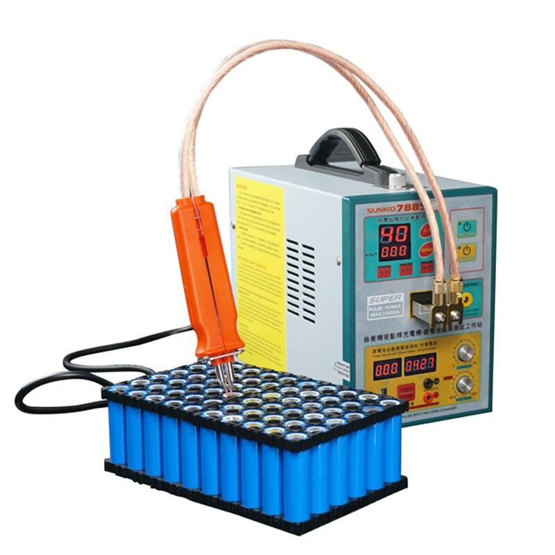 SUNNKKO-آلة لحام البقعة بالبطارية ، 110 فولت/220 فولت ، 788S PRO ، Digisix ، 3.2KW