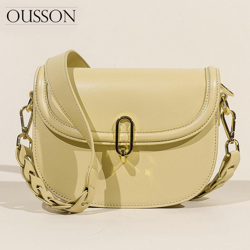 Bolsa de Sela Ombro para a Mulher Ousson Novo Design Moda Couro Axilas Bolsa Requintado Feminino um