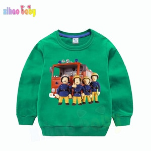 Детская хлопковая толстовка с капюшоном для мальчиков и девочек; Пуловеры с 3D принтом; Детский свитер; Уличная одежда Harajuku; Сезон осень-зима