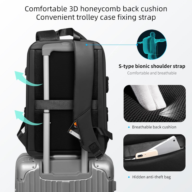 Ноутбук рюкзак протиугінні - Рюкзаки - фото 4