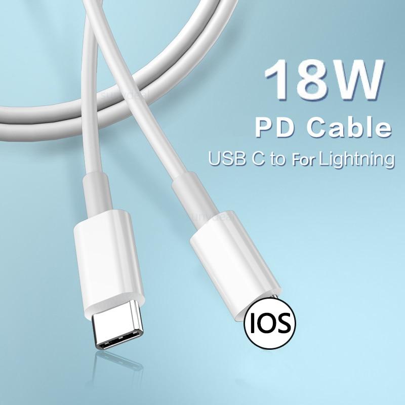 18W PD USB Cable tipo C rápido Cable de carga para el...