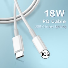 18W USB PD Cable Type C Fast Charging Cable For Lightning iPhone 12 Mini 11 Pro Max XS X XR 7 8 Plus