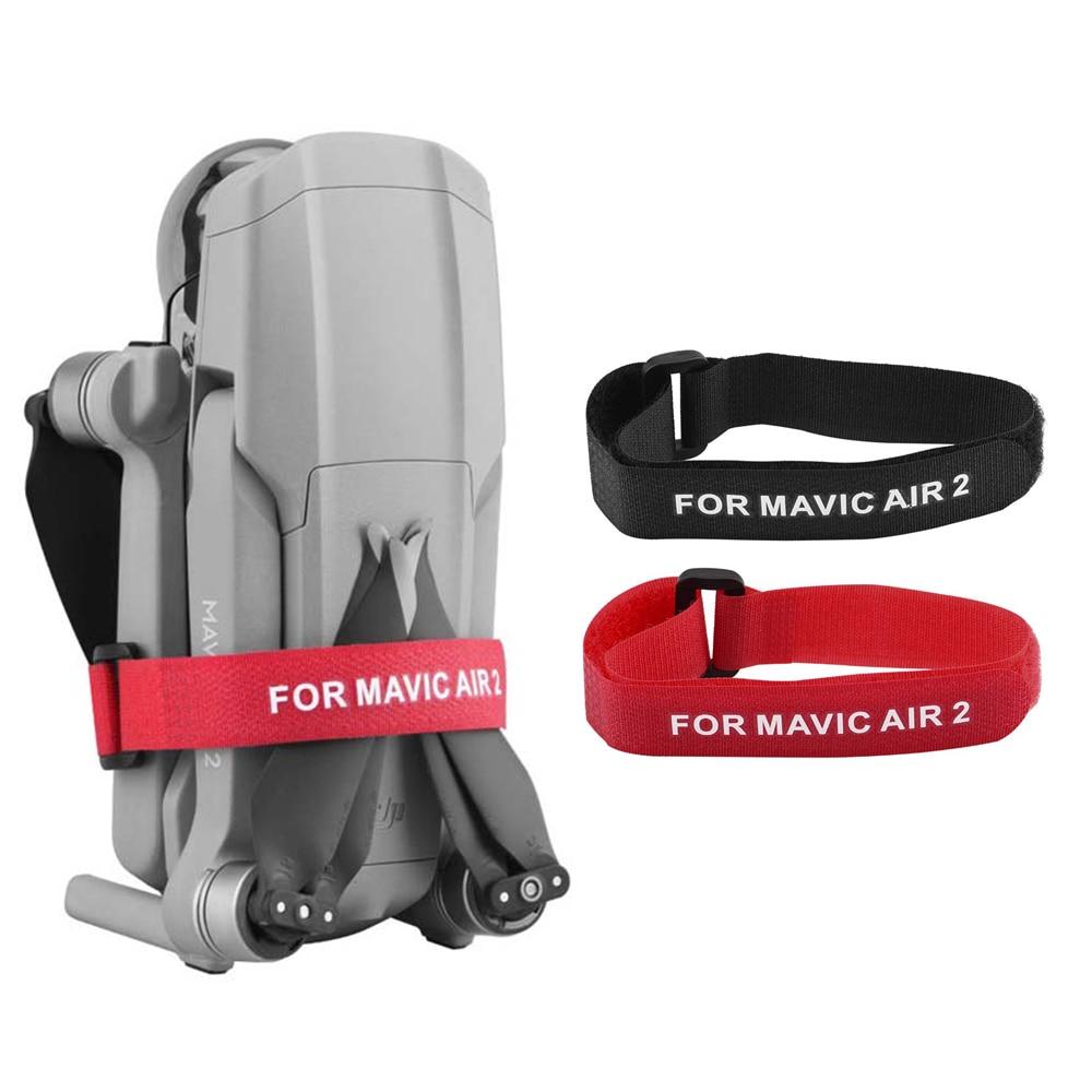 2 uds propulsor portátil cinta de cuchilla soporte de correas para DJI Mavic Air 2 Drone Motor cinturón de fijación cinta de gancho y lazo corbatas accesorio