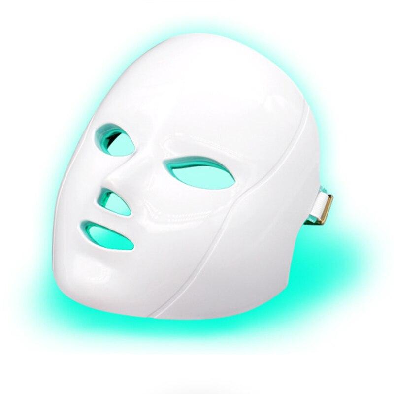 جهاز علاج ضوئي لتجديد شباب الجلد ، مضاد لحب الشباب والتجاعيد ، 7 ألوان LED ، قناع الوجه ، العلاج بالفوتون ، سبا