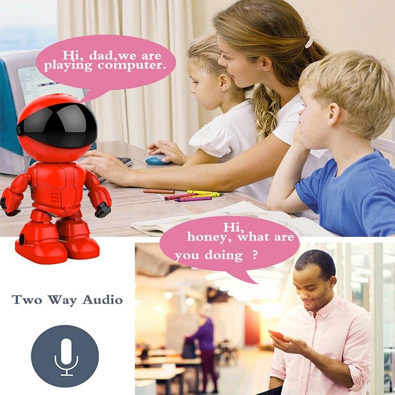 Marlboze 1080p robot IP camera 2MP security camera WiFi wireless CCTV home camera monitoring P2P Baby Monitor Application Remote
