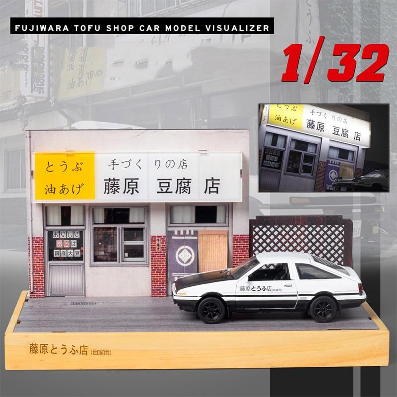 1:32 начальный D AE86 Trueno металлический автомобиль из сплава, диекасты, модели автомобилей, авто игрушки со звукосветильник, дисплей для сцены д...