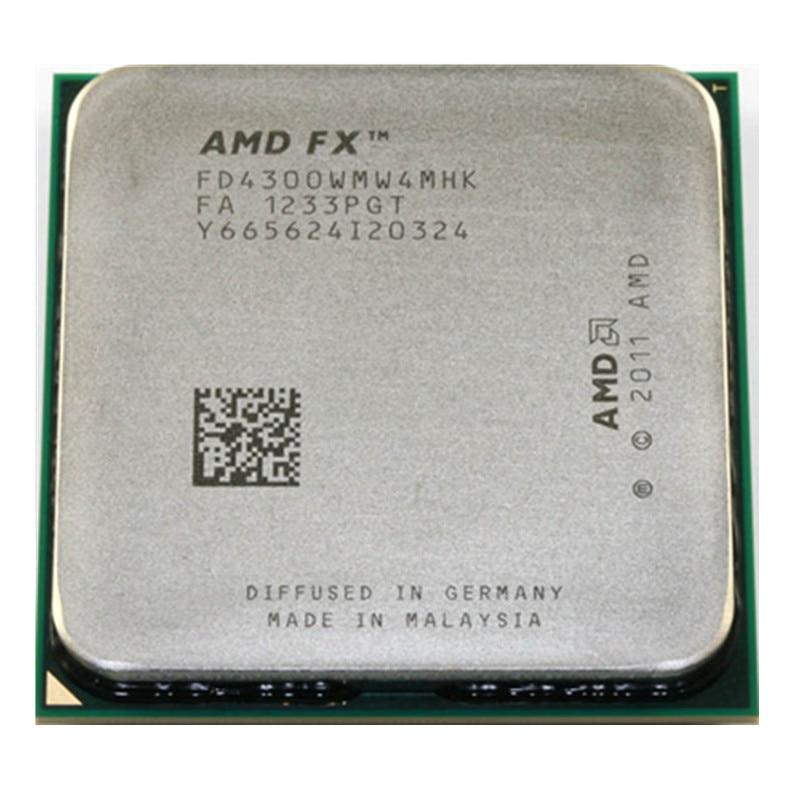Amd fx series fx4300 3.8ghz quad-core processador cpu fx 4300 fd4300wmw4mhk 95w soquete am3 +