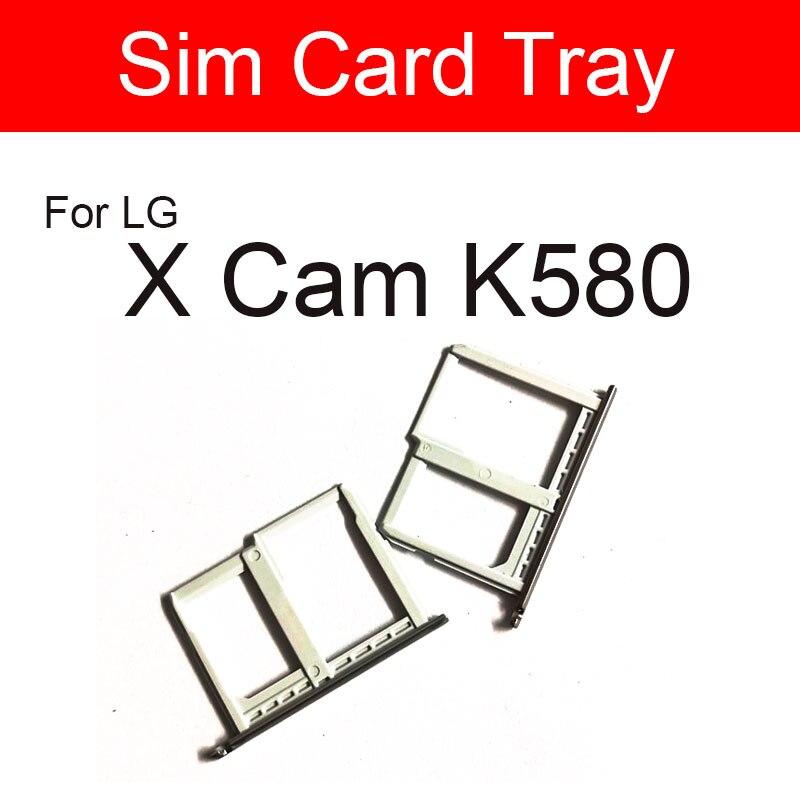 Plateau de carte SIM pour LG X Cam K580 lecteur de carte SIM support de plateau Sim pièces de rechange