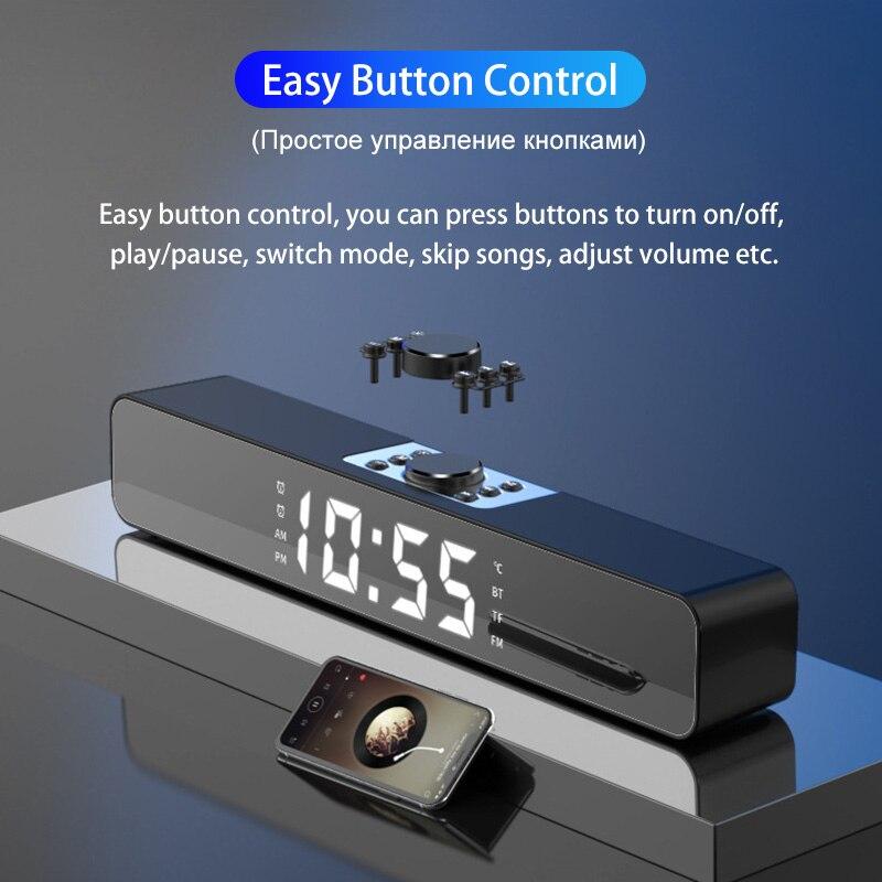 LED Soundbar TV Parlantes Bluetooth Speakers Home Theater Sound Bar FM Radio Altavoces Ordenador Alarm Clock Wireless Subwoofer enlarge