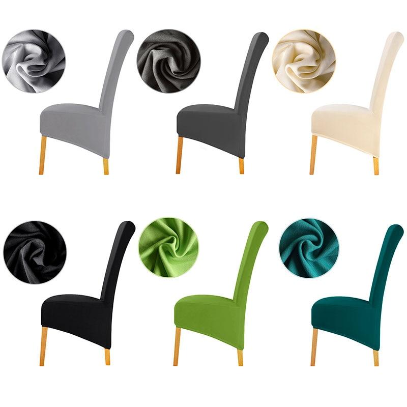 Размер XL, чистый цвет, чехол для стула, большой размер, длинная спинка, европейский стиль, чехлы для стула, универсальные, для ресторана, отеля, вечеринки, дома, банкета