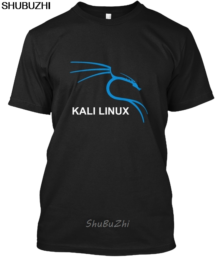 Kali linux t-shirts-popular tagless camiseta masculina algodão t-shirts da marca de verão tshirt tamanho euro transporte da gota sbz3231