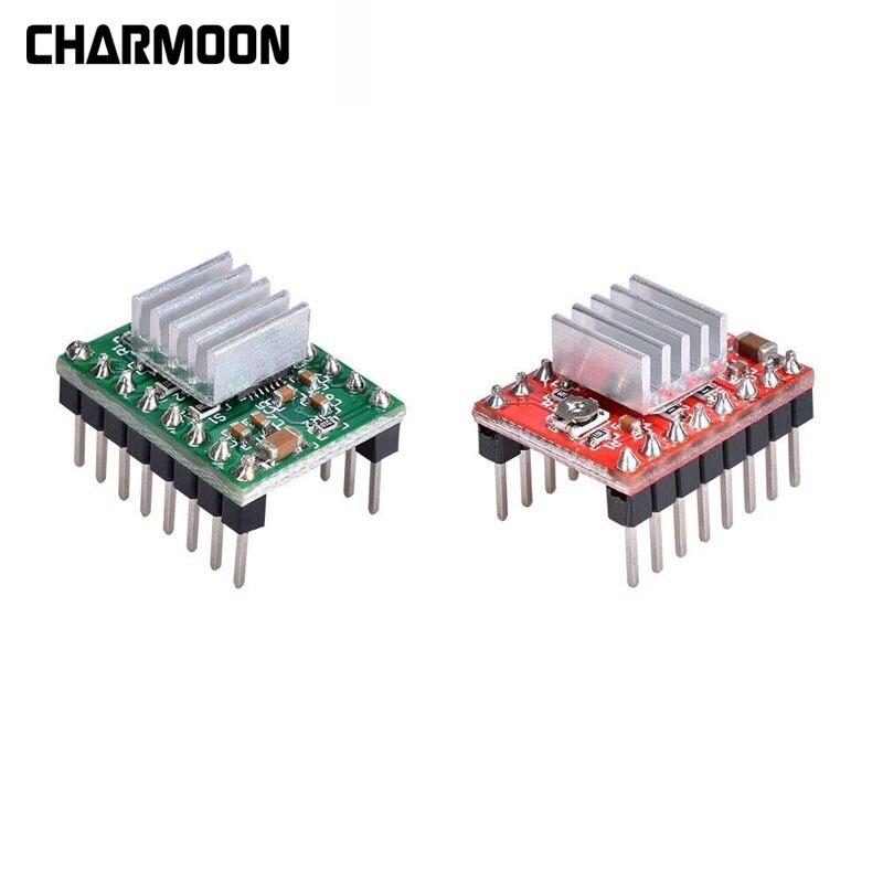 100 قطعة من أجزاء الطابعة ثلاثية الأبعاد Reprap A4988 DRV8825, Stepstick DRV8825 متوافق مع الطابعة ثلاثية الأبعاد غرفة التبريد