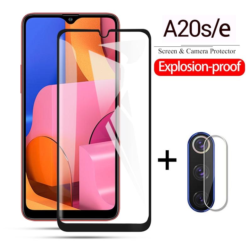 1-2pcs a20 s screen protector & camera Lens tempered glass protector for samsung a20 A a 20s 20 s a20e a20s 20e protective glas