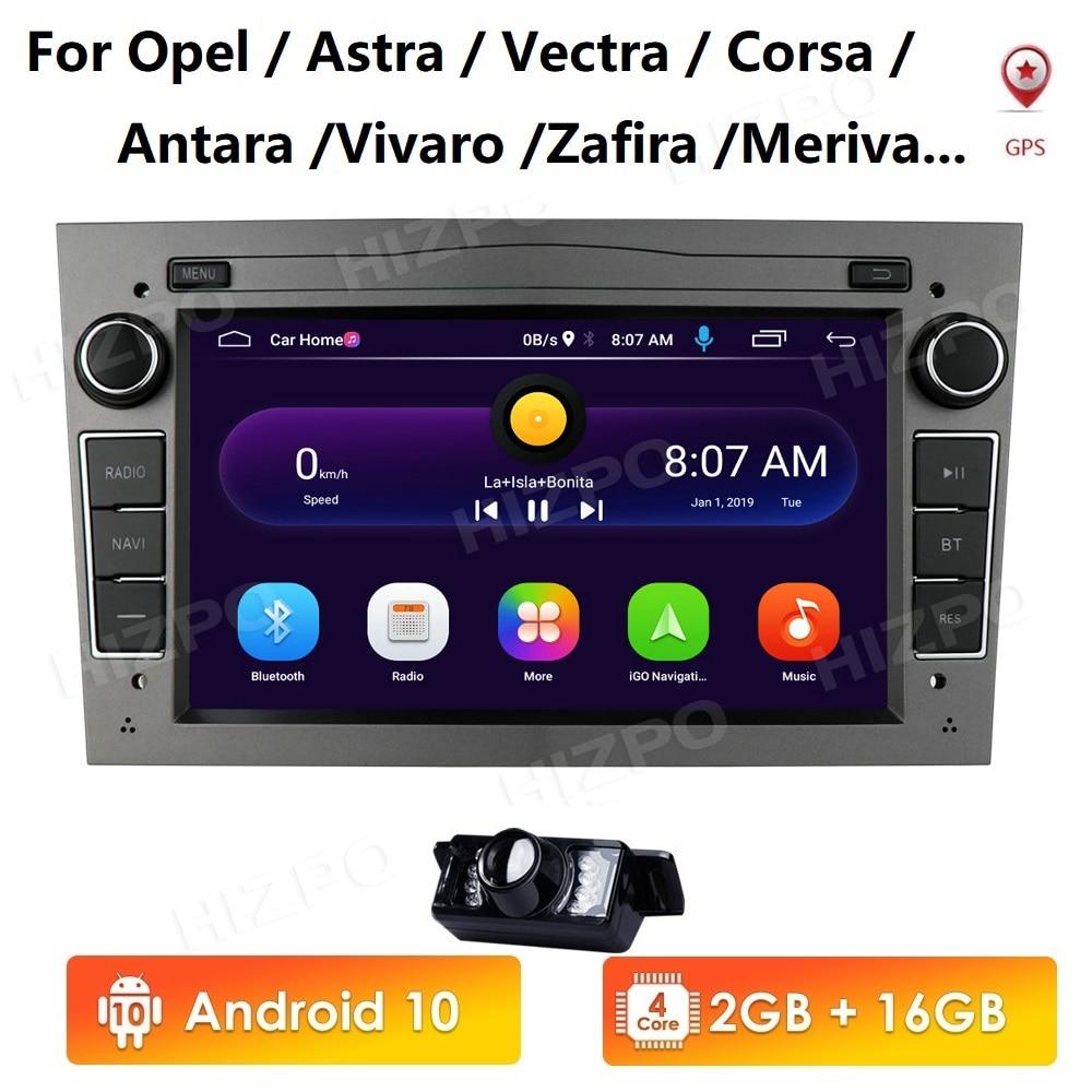 Ossuret Android 10 2DIN car radio GPS WiFi player for opel Vauxhall Astra H G J Vectra Antara Zafira Corsa Vivaro Meriva No DVD