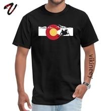 Rafting en eau vive Colorado drapeau avocat groupe hauts t-shirts dernier Westie manches hommes t-shirts Hip hop automne T-Shirt O cou