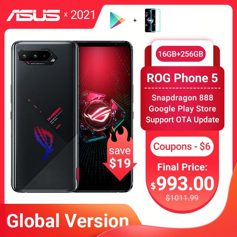 Новая глобальная версия ASUS ROG Phone 5 Snapdragon888 16 Гб Оперативная память 256 ГБ Встроенная память 6000 мА/ч, 65 Вт NFC Android Q OTA Update игровой телефон ROG5