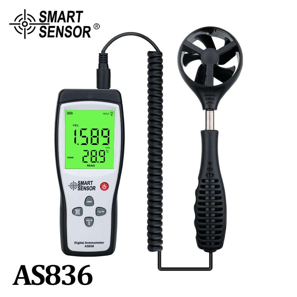 مقياس سرعة الرياح الرقمية مقياس شدة الريح مقياس التشخيص أداة الهواء سرعة الرياح متر 45 متر/الثانية قياس درجة الحرارة عقد البيانات AS836