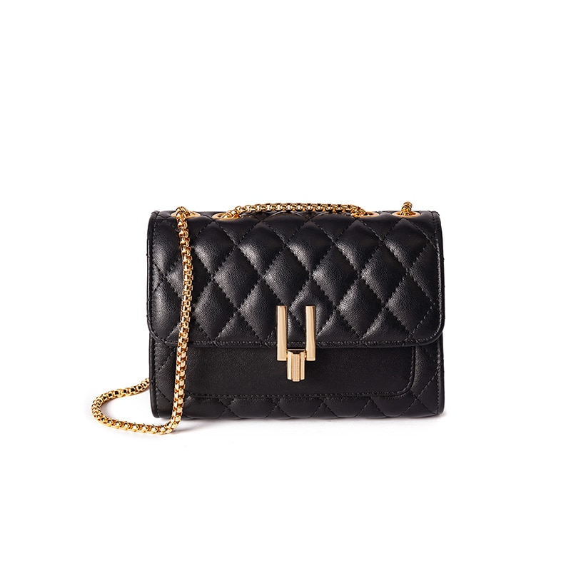 19 حقيبة جديدة رفرف جلد الغنم الماس شعرية CF 2.55 جلد الغنم تجول سلسلة واحدة الكتف حقيبة المرأة