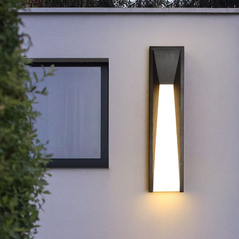 LED Wall Light Outdoor IP65 Waterproof Stainless steel Black Wall Lamps Porch Garden Villa Lamps  110V 220V Sconce Luminaire