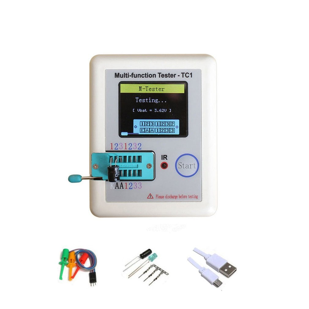 new 1 8 inch tft lcd lcd display spi interface solder 14pin 128160 hd resolution used as meter meter character icon etc LCR-TC1 1.8 TFT LCD Display Multi-meter Transistor Tester Diode Triode Capacitor Resistor Test Meter ESR LCR NPN PNP MOSFET COD