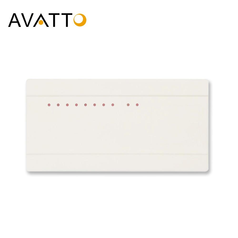 Avatto termostato hub controlador 8 sub-câmara válvula elétrica lcd caixa indicar 8 canais caldeira a gás nc/nenhum atuador concentrador
