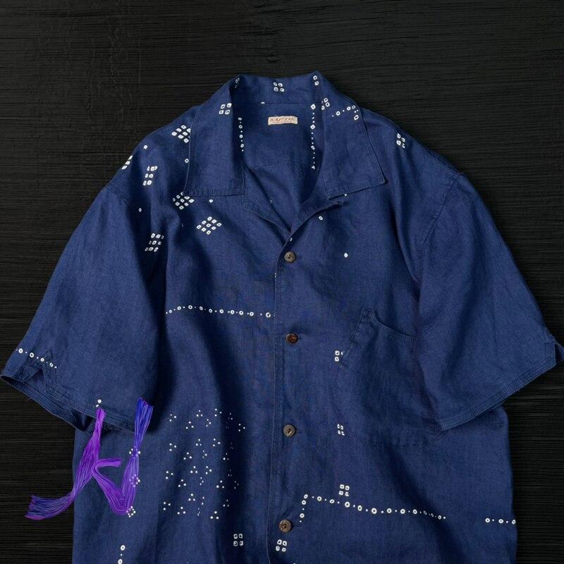 KAPITAL Shirts High Quality KAPITAL Men Women High Street Hip Hop Tops Hawaiian Style Short Sleeved Shirts
