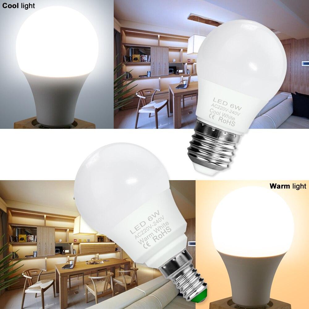 Bombilla LED E27 de 20W, E14, 240V, lámpara de 3W, 6W, 9W,...