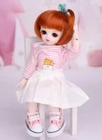 16 scale bjd doll cute kid girl bjdsd resin figure doll diy model toy gift full set with clothesshoeswig a0301carol yosd